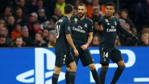 BENZEMA AJAX REAL MADRID CHAMPIONS LEAGUE