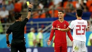 Cristiano Ronaldo Portugal vs Iran World Cup yellow card