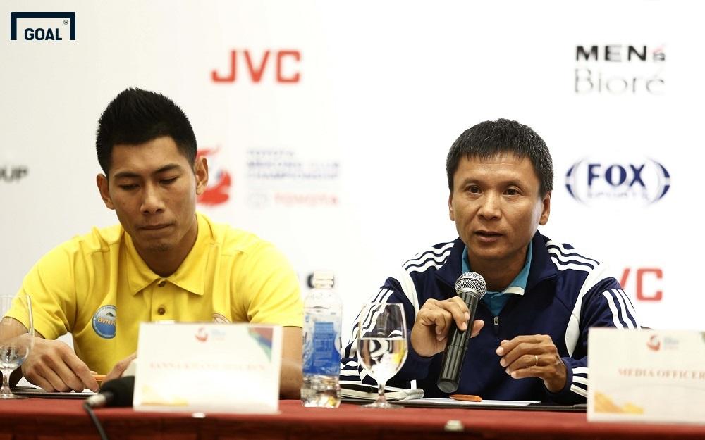 Họp báo trước trận Sanna Khánh Hòa BVN gặp Boeung Ket Angkor Mekong Cup 2017