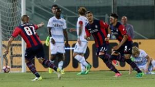 Andrea Nalini celebrating Crotone Lazio Serie A 05282017