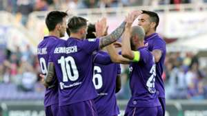 Fiorentina celebrates Lazio Serie A