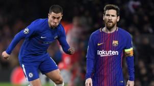 Eden Hazard, Lionel Messi