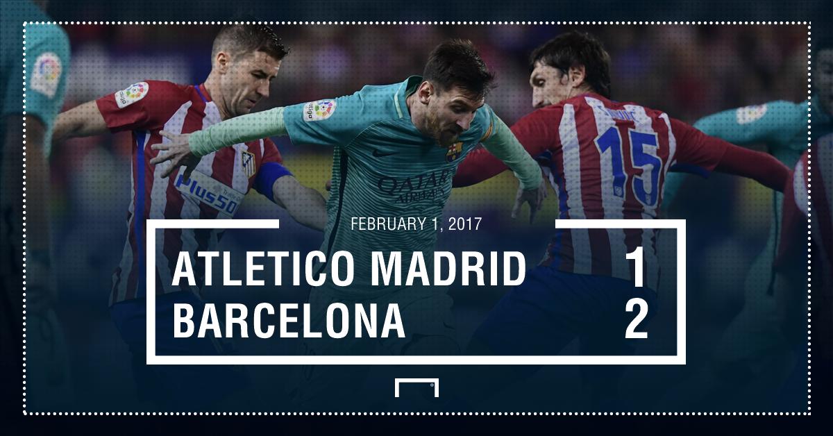 Atletico Barcelona result
