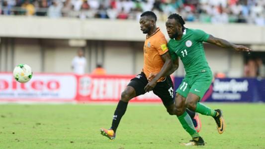 Victor Moses of Nigeria & Zambia's Chisamba Lungu