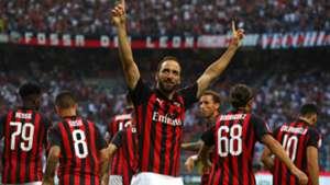 Milan Atalanta Higuain celeb