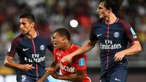 Kylian Mbappé Adrien Rabiot Marquinhos Monaco PSG Trophee des Champions 29072017