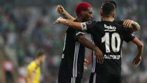 Ryan Babel Oguzhan Ozyakup goal celebration Besiktas  Bursaspor 09022018