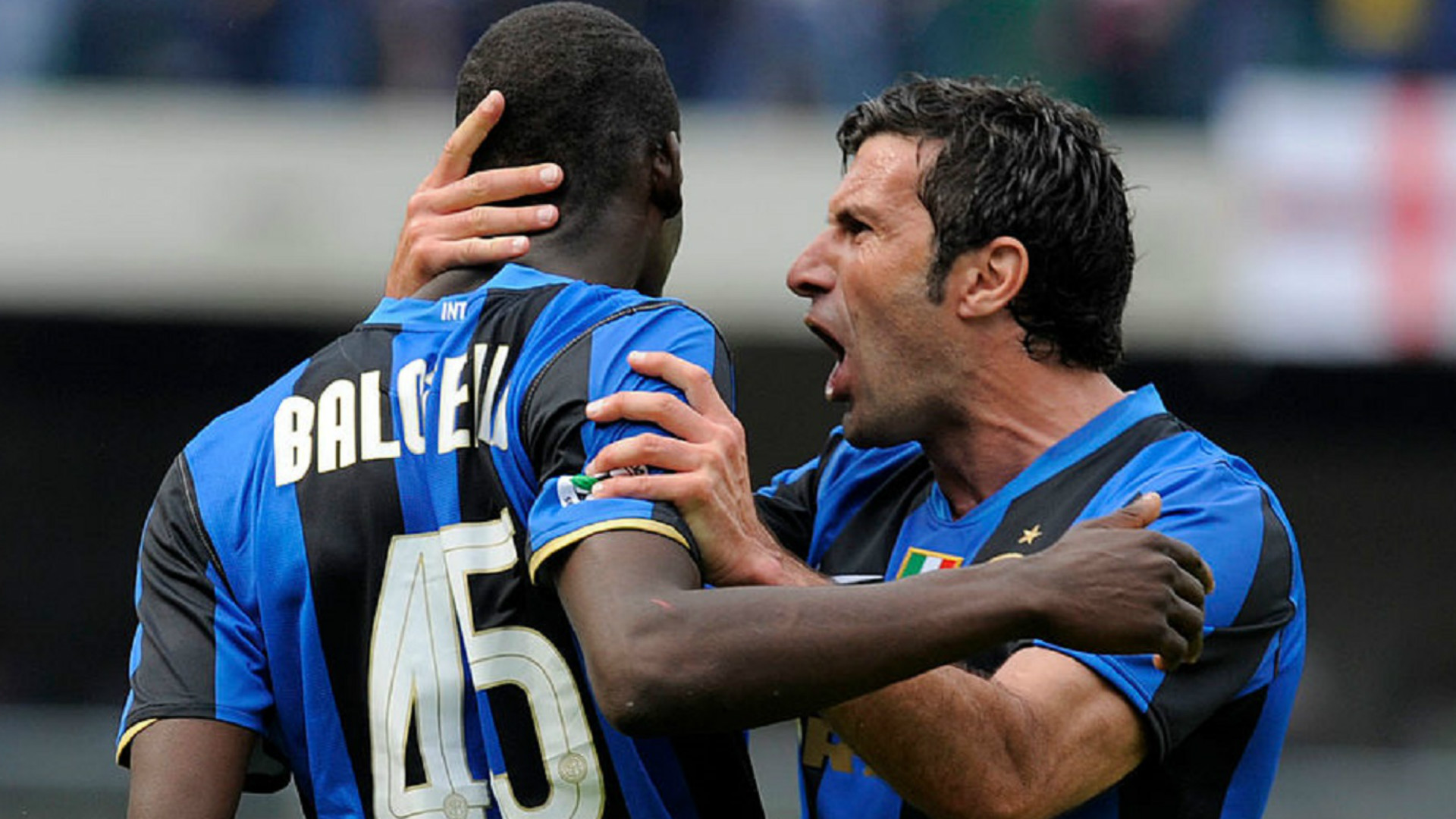 Mario Balotelli Luis Figo Inter