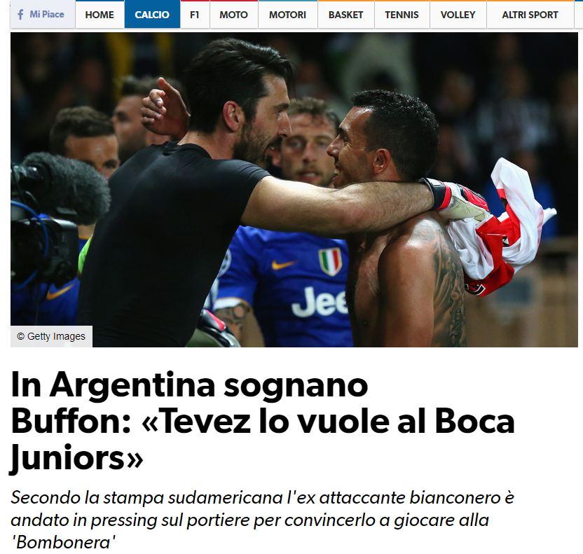 Corriere Dello Sport Buffon Boca