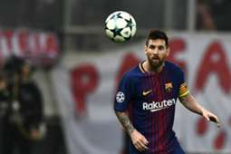 Lionel Messi Olympiakos Barcelona UCL 31102017