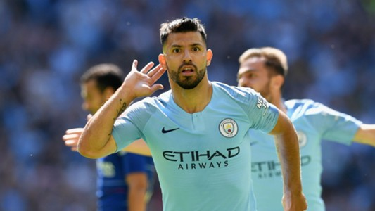 Sergio Aguero Manchester City Chelsea Community Shield