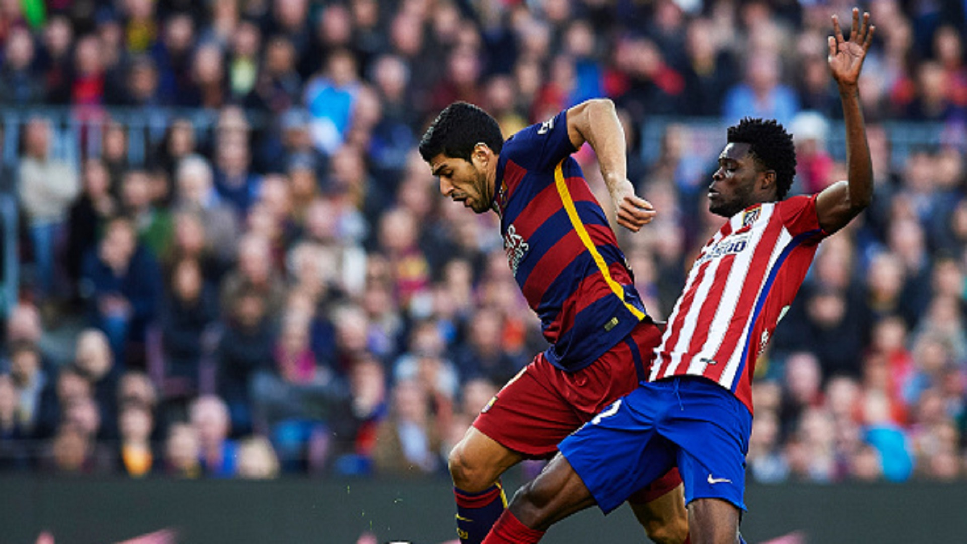 Luis Suarez and Thomas Partey