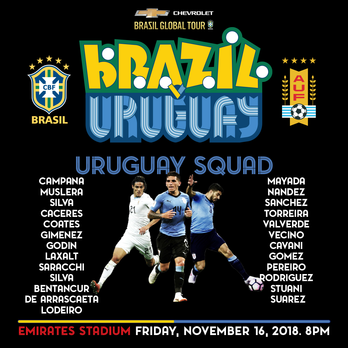 Uruguay squad 29102018