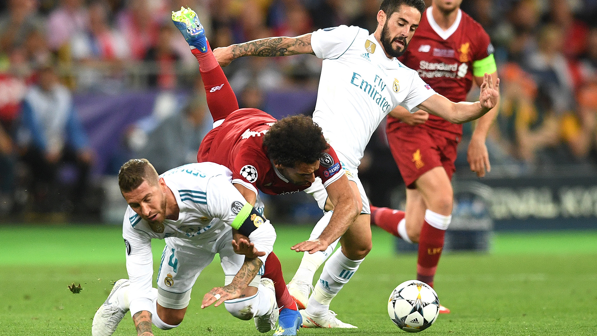 Ramos Salah Injury Real Madrid Liverpool Champions League Final
