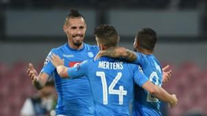 Marek Hamsik, Dries Mertens, Napoli, Feyenoord, UEFA Champions League, 26092017