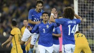 Thiago Silva, David Luiz e Rodrigo Caio Brasil x Austrália 13 06 17