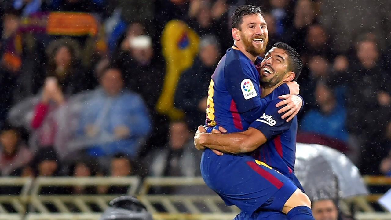 Lionel Messi Real Sociedad Barcelona LaLiga 14012018