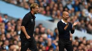 Jürgen Klopp Pep Guardiola Liverpool Manchester City Premier League