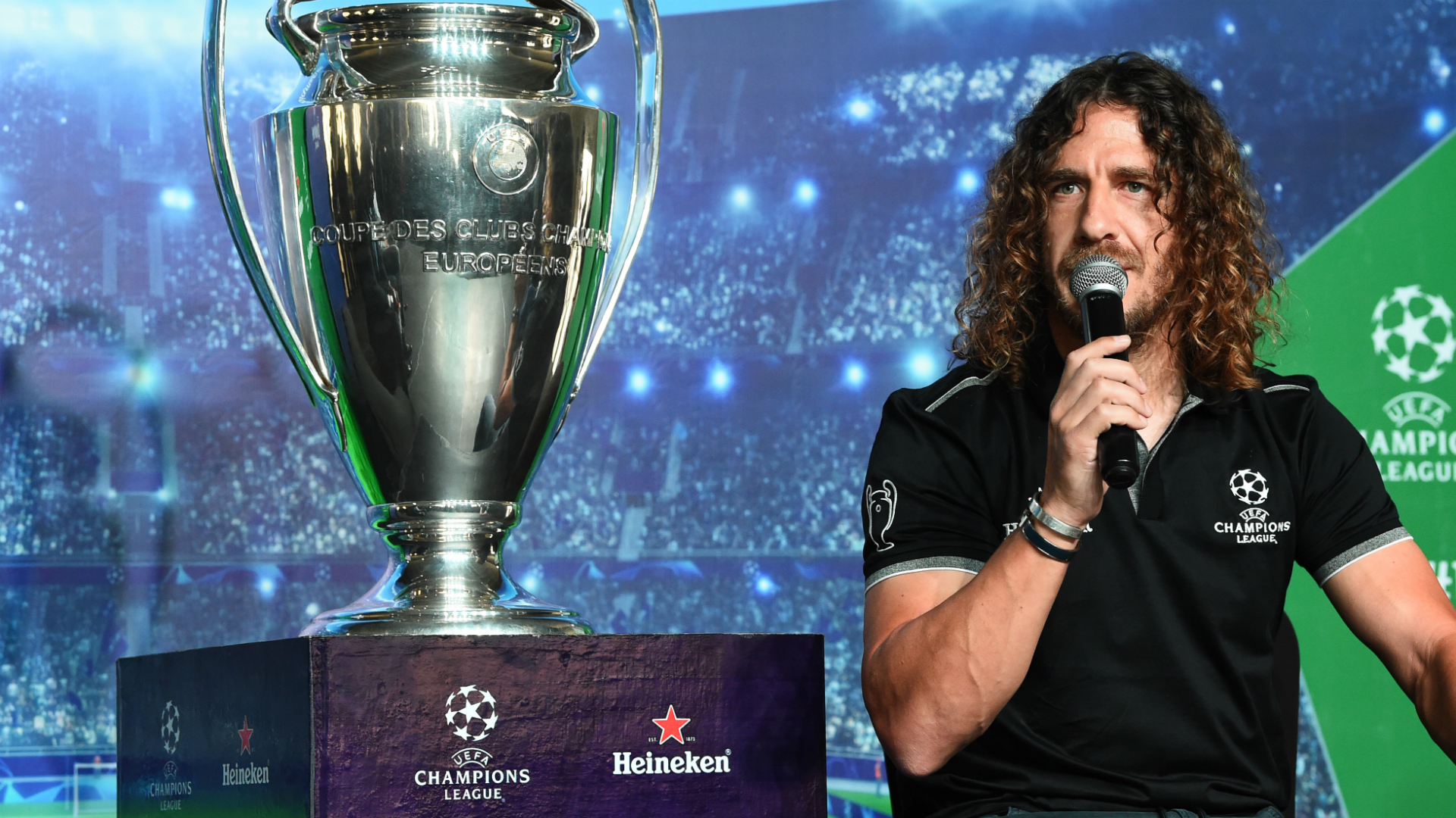 Carles Puyol UEFA Champions League Trophy Tour Presented by Heineken, Lagos, Nigeria