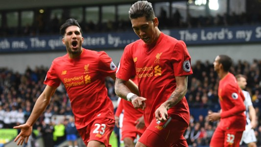 HD Roberto Firmino Emre Can Liverpool celebrates