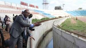 SPORTS Ambassador PETER KABERIA and Nyayo Stadium.