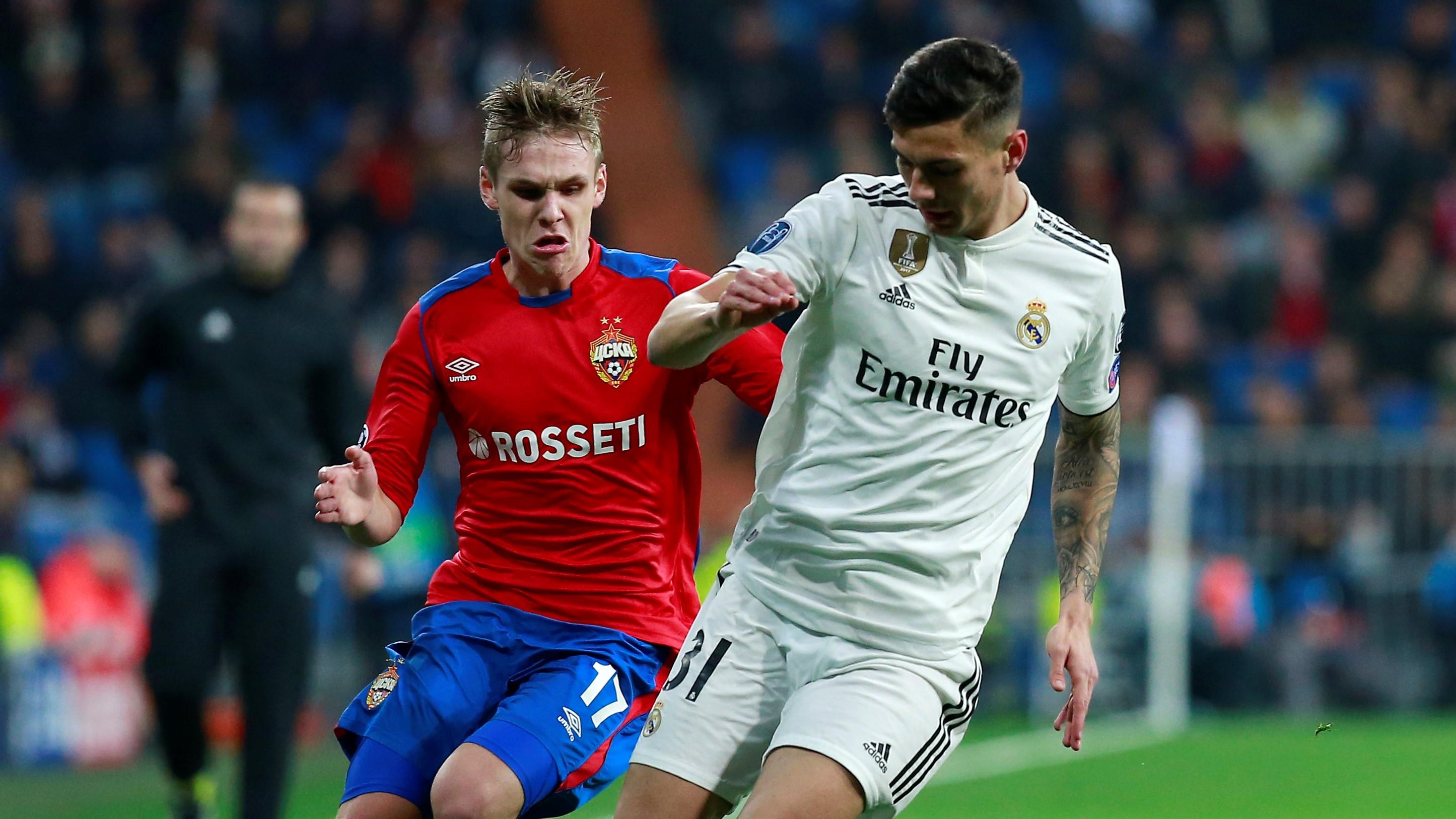 Javier Sanchez Arnor Sigurdsson Real Madrid CSKA UCL 12122018