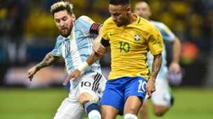 Lionel Messi Neymar Selección argentina Selección brasileña