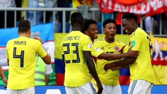 Colombia celebrate vs Senegal World Cup 2018