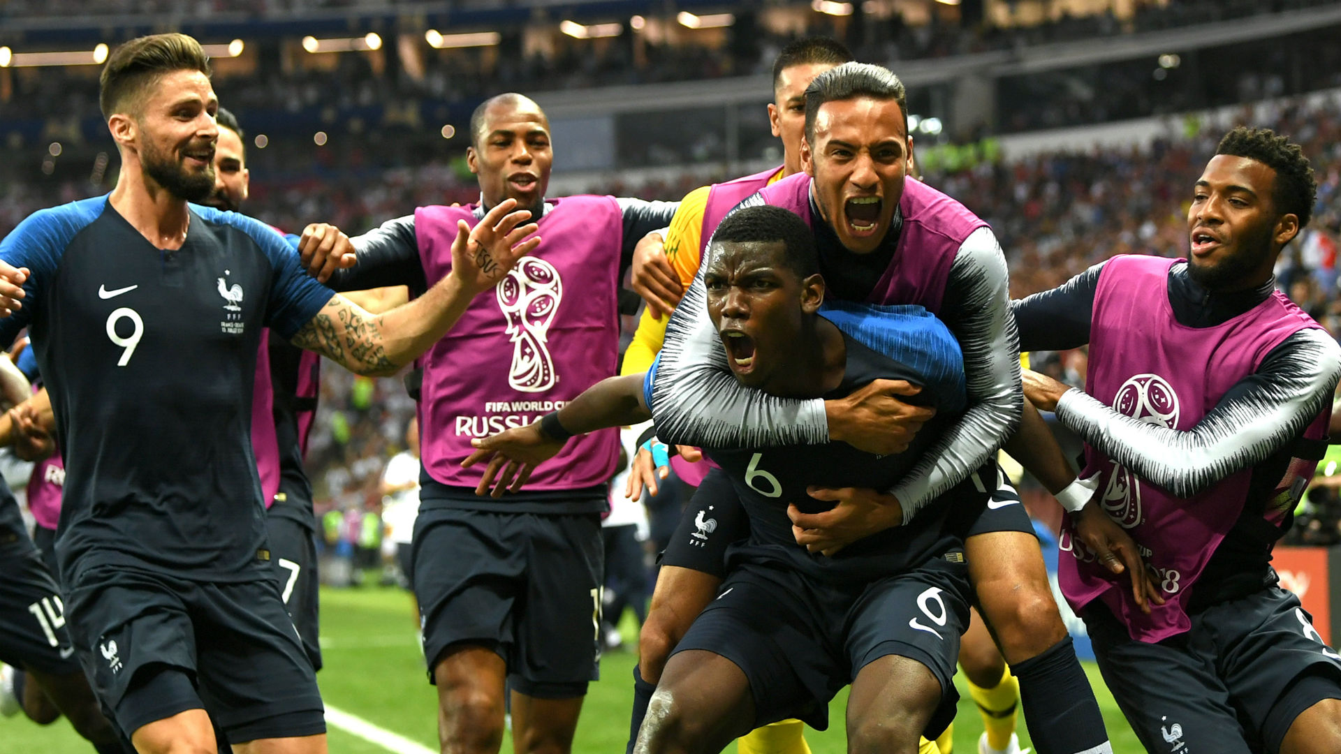 Paul Pogba France Croatia World Cup final 2018