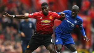 Paul Pogba N'Golo Kante Manchester United Chelsea 2018-19