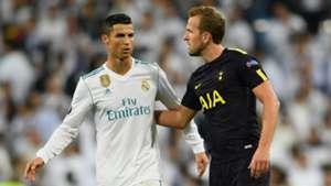 Cristiano Ronaldo, Harry Kane, Real Madrid v Tottenham, Champions League 2017/18
