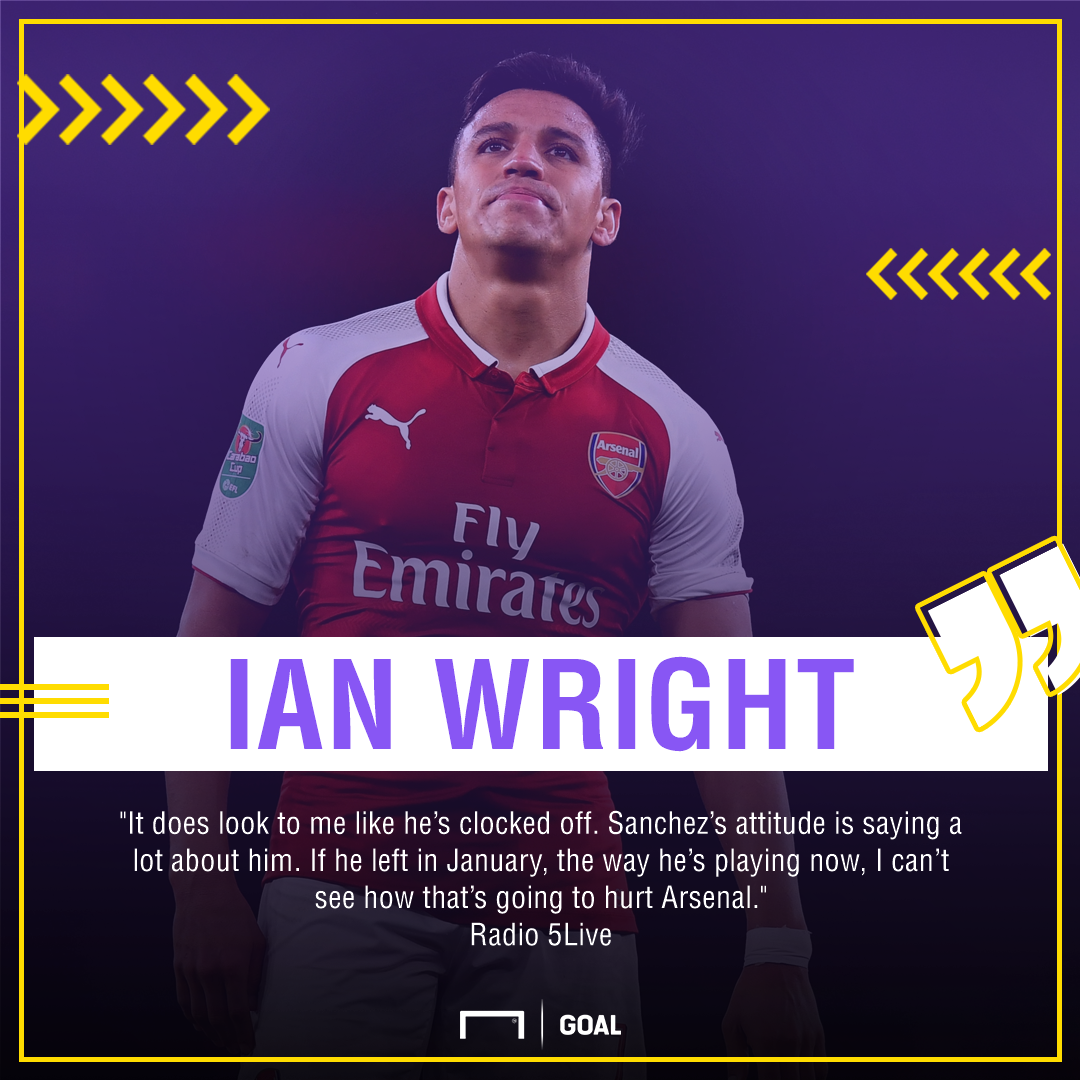 Ian Wright Alexis Sanchez clocked off