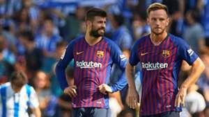 Gerard Pique Ivan Rakitic Real Sociedad Barcelona LaLiga 15092018
