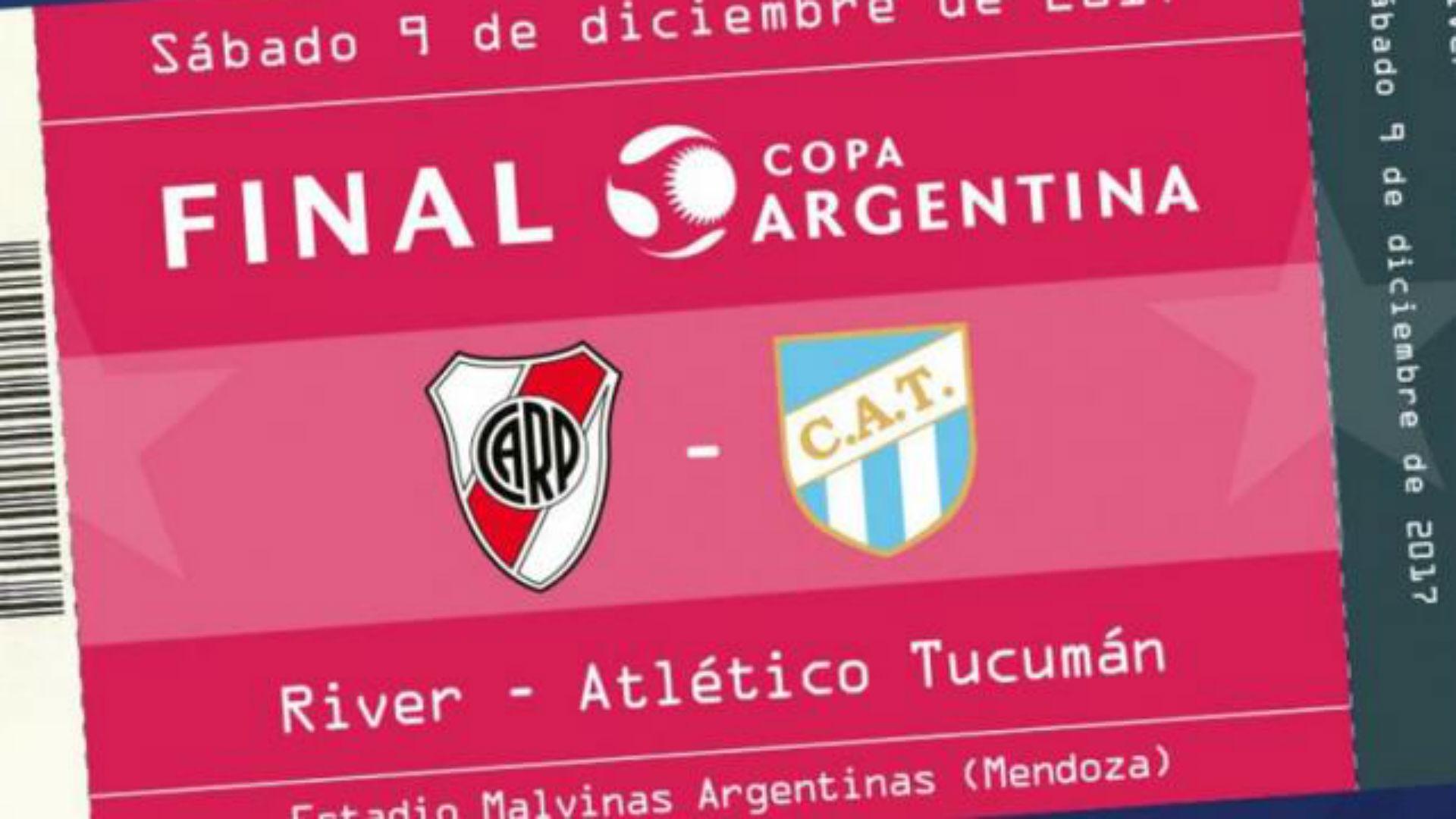 Entradas final Copa Argentina 2017