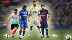 Ronaldo Messi Pirlo top free-kick scorers