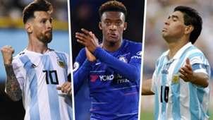 Lionel Messi, Hudson-Odoi, Diego Maradona