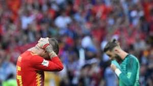 Sergio Ramos David De Gea Spain Russia World Cup 2018