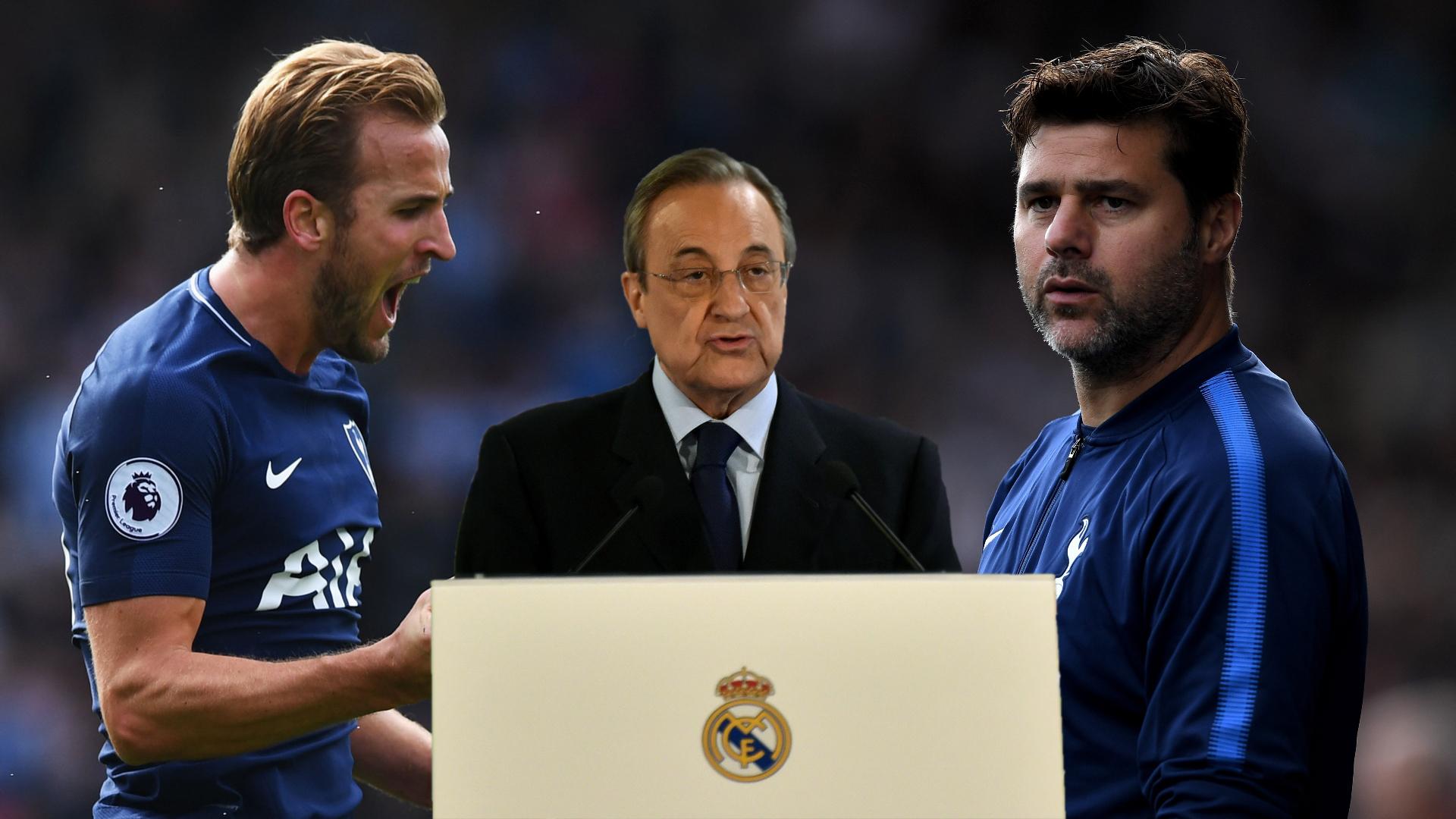 Harry Kane, Mauricio Pochettino, Florentino Perez split