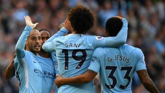 David Silva Leroy Sane Manchester City Stoke 141017