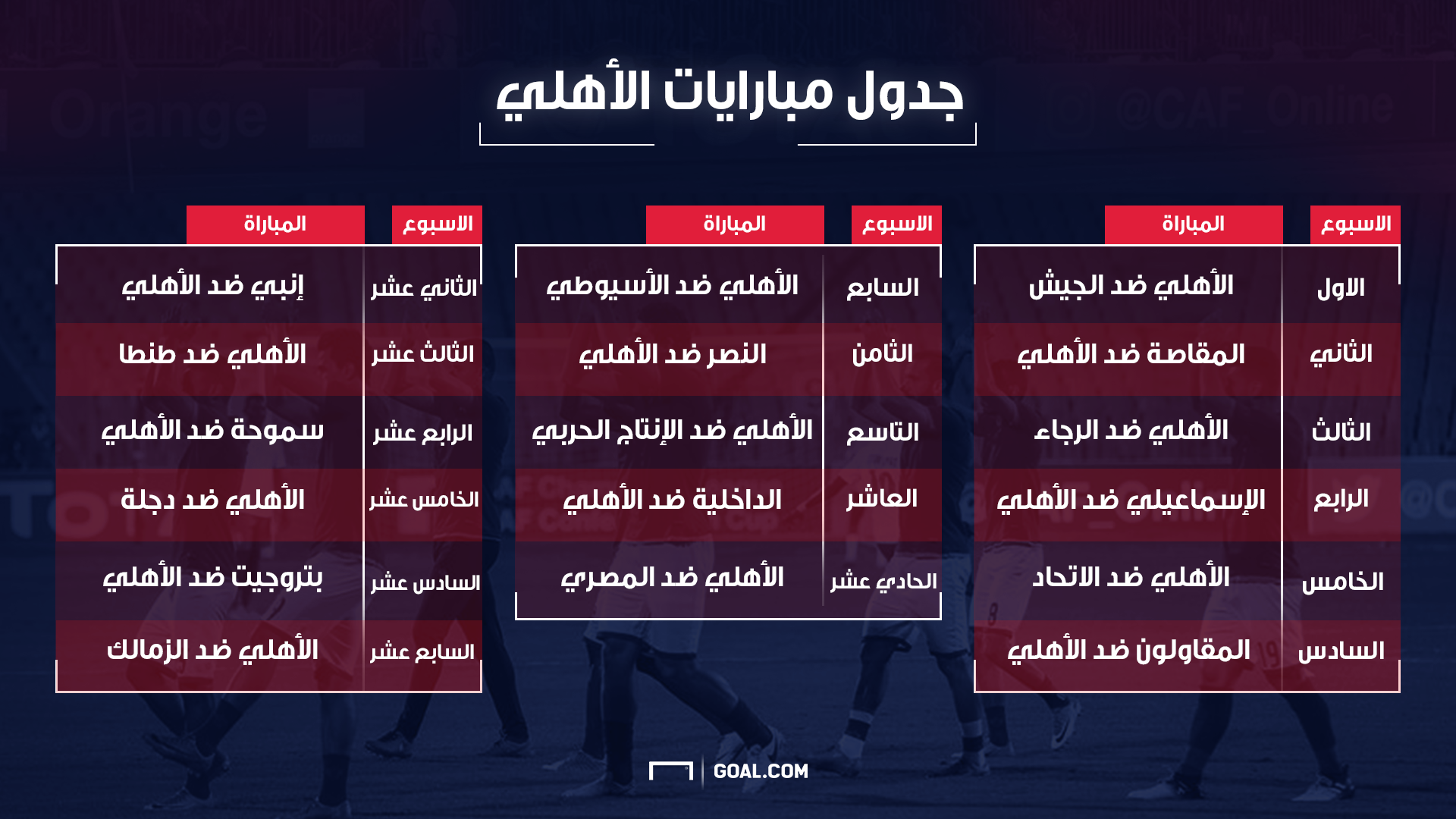 ahly First round 17-18
