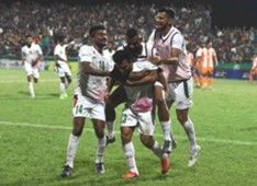 Mohun Bagan players celebrate