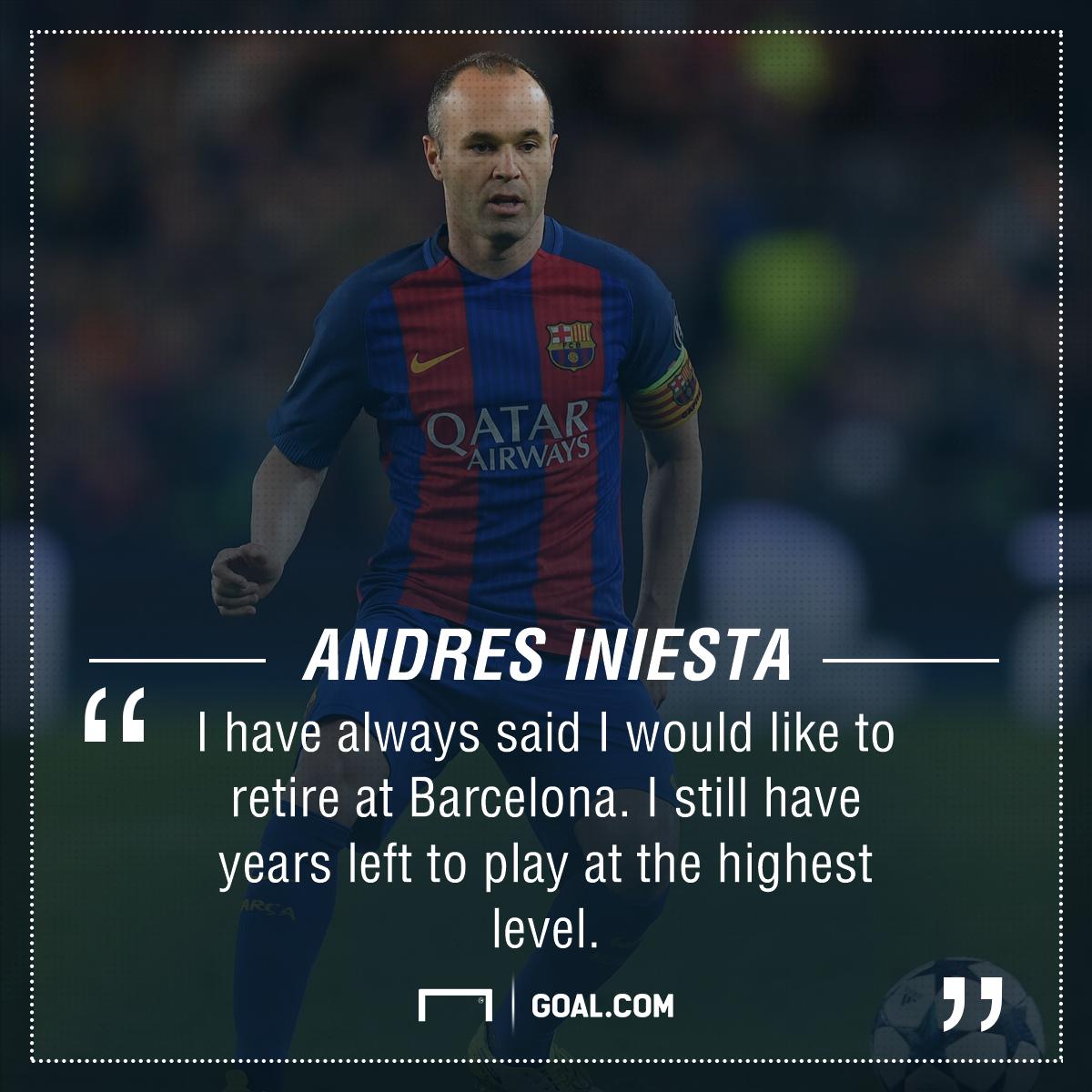 Andres Iniesta Barcelona retire