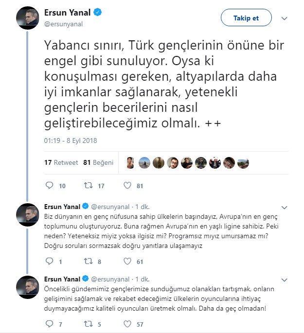 Ersun Yanal Twitter