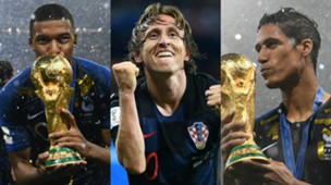 Collage XI WC2018 Mbappe, Modric, Varane