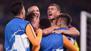 Roma celebrates Dzeko vs. Shakhtar Donetsk