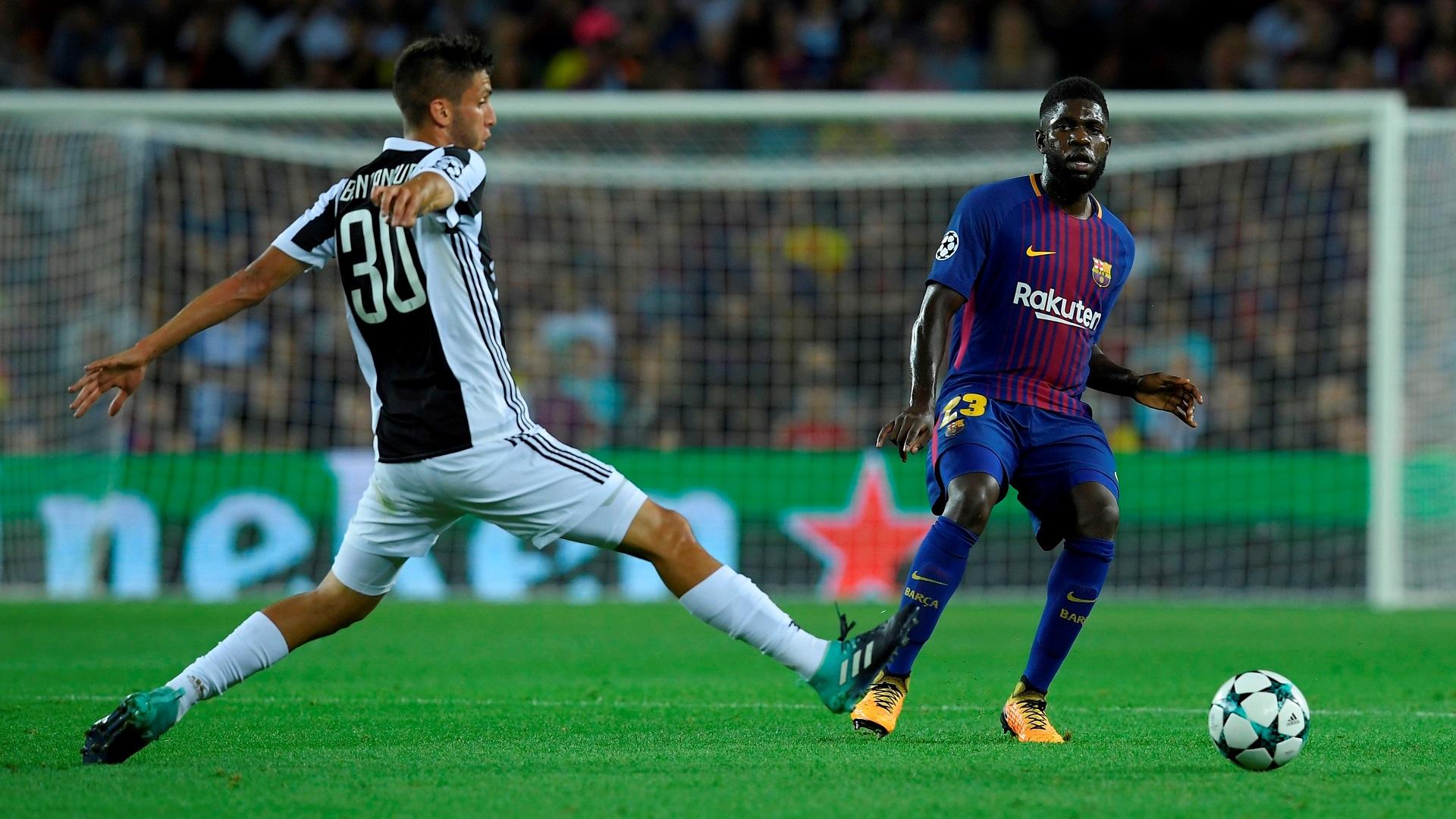 Samuel Umtiti Rodrigo Betancur Barcelona Juventus Champions League 12092017