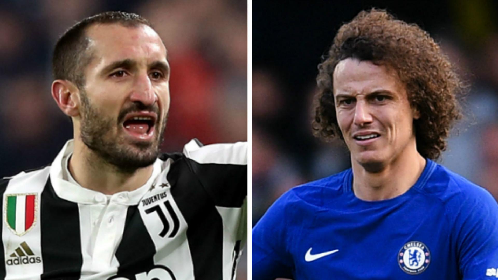 Giorgio Chiellini David Luiz Juventus Chelsea