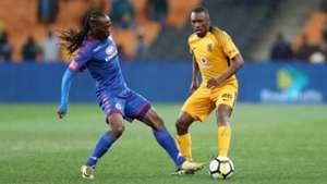 Reneilwe Letsholonyane and Bernard Parker - Kaizer Chiefs v SuperSport United