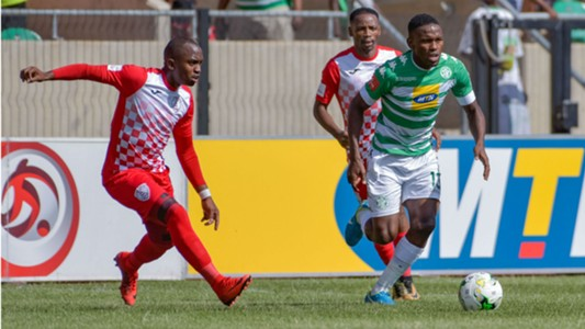 Victor Letsoalo of Bloemfontein Celtic and Patrick Phungwayo of Free State Stars