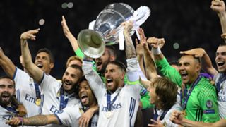 Real Madrid celebrating Champions League